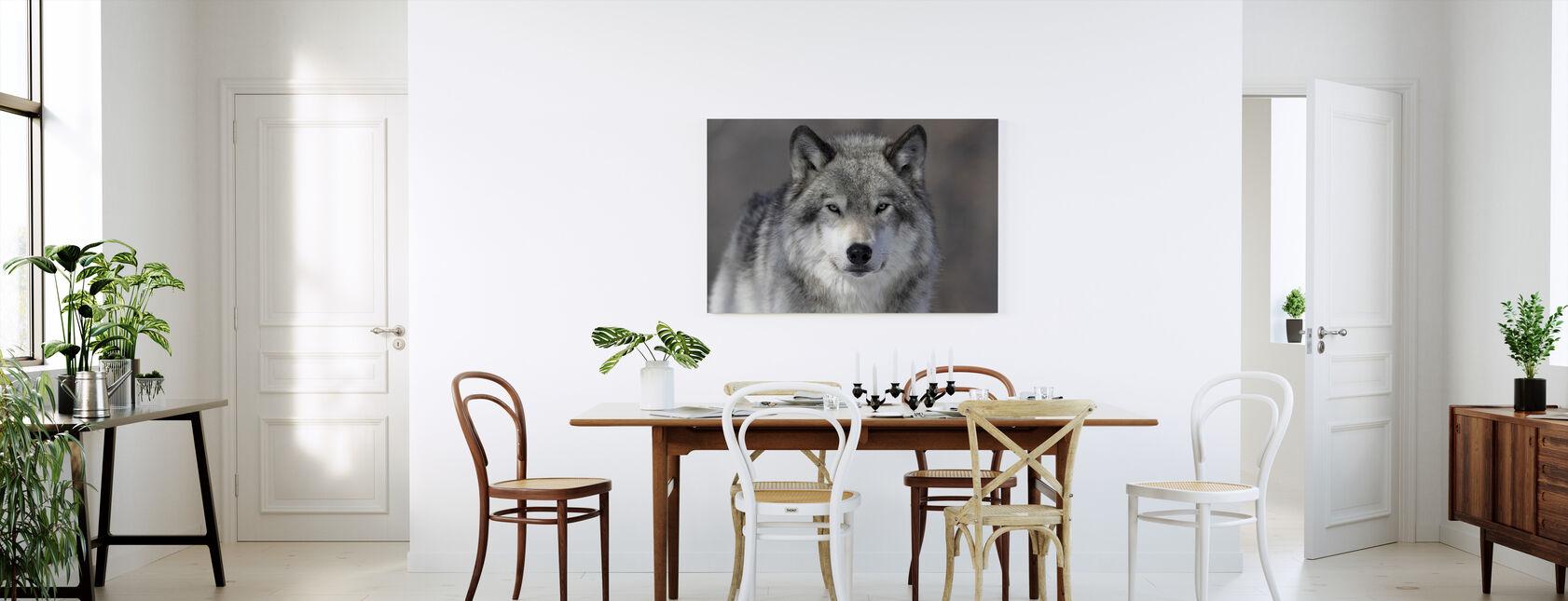 Portrait of a Wolf - Canvas print - Kitchen