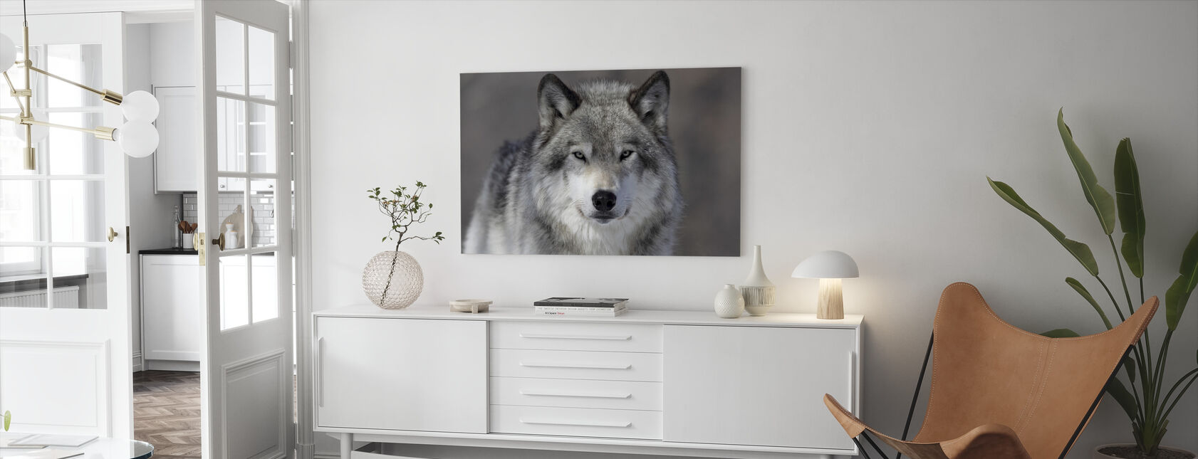 Portrait of a Wolf - Canvas print - Living Room