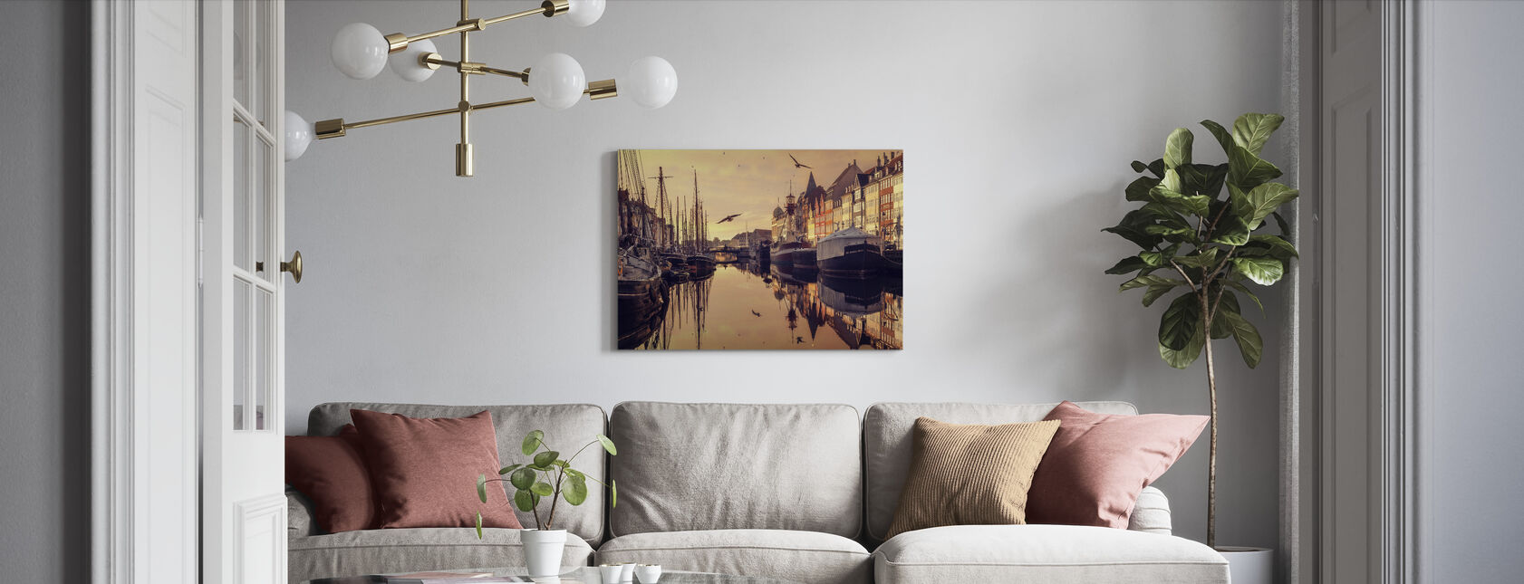 Romantic Copenhagen, Denmark - Canvas print - Living Room