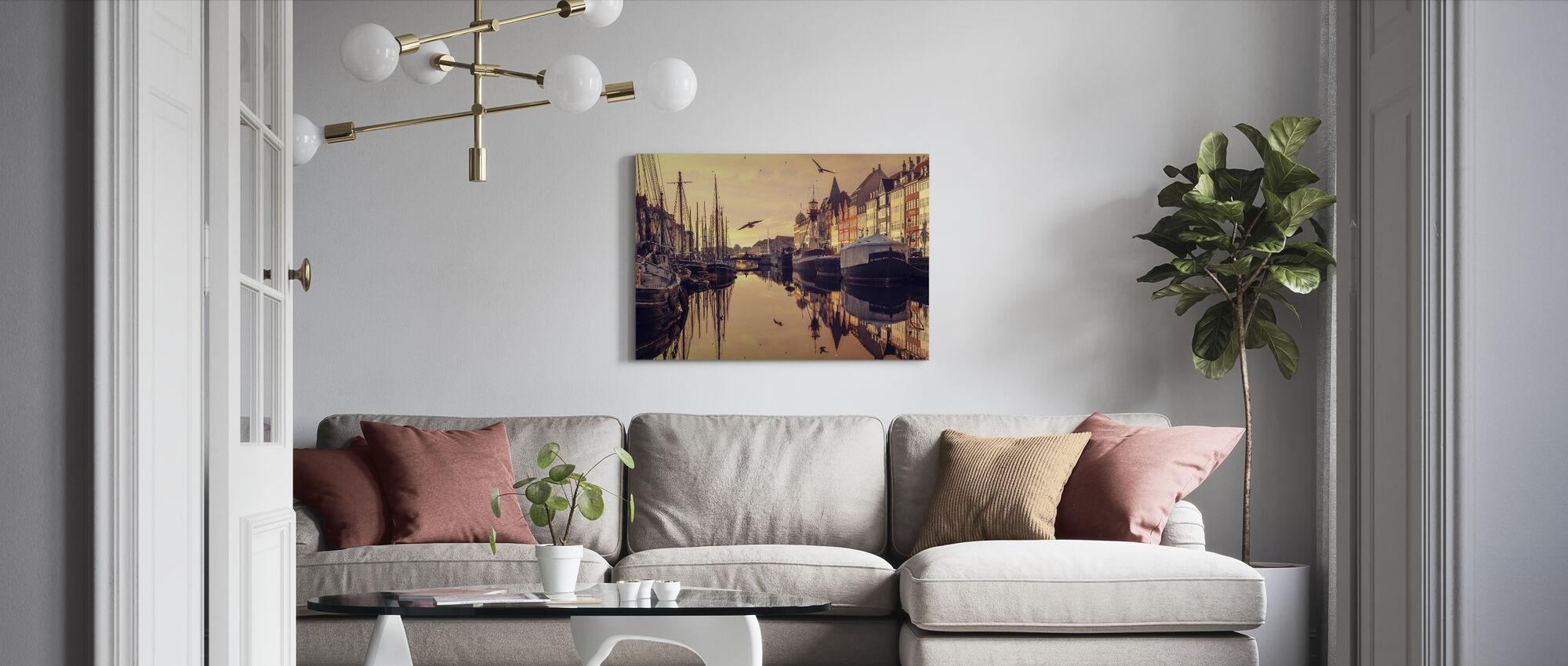 Romantic Copenhagen, Denmark - Canvas print - Living Room