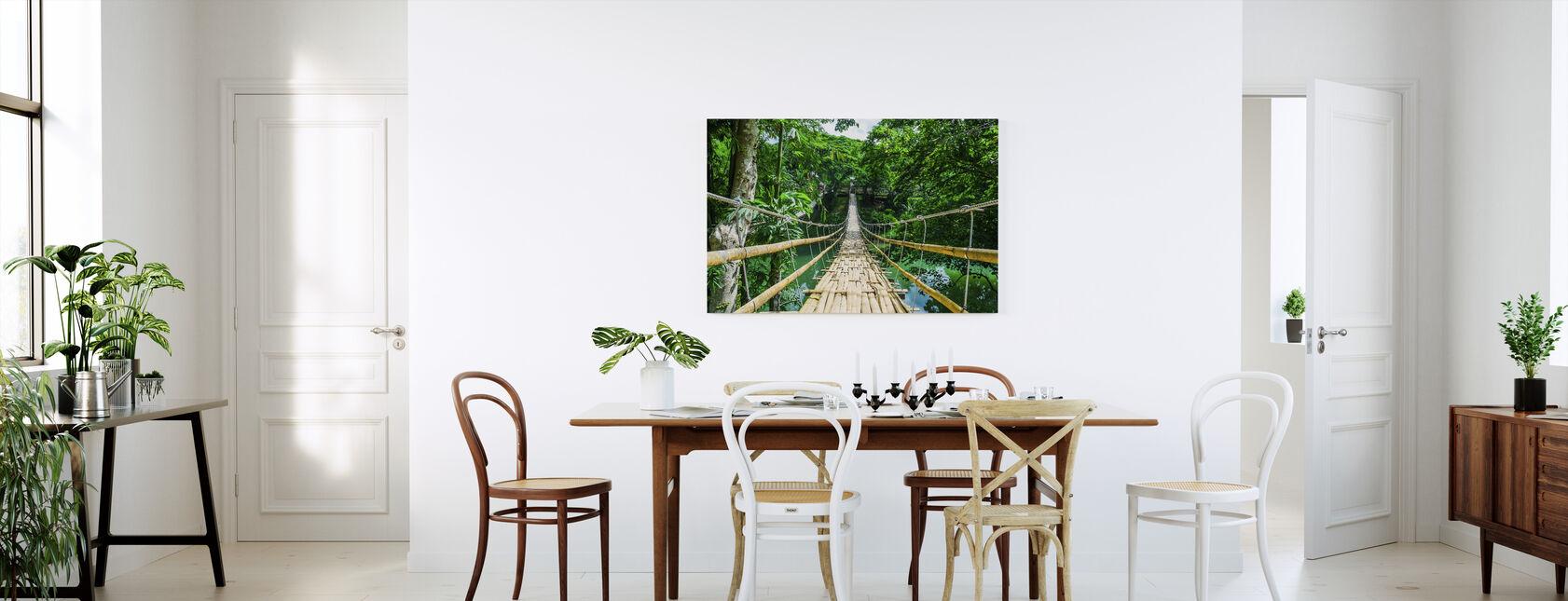 Broen i Troperne - Billede på lærred - Køkken