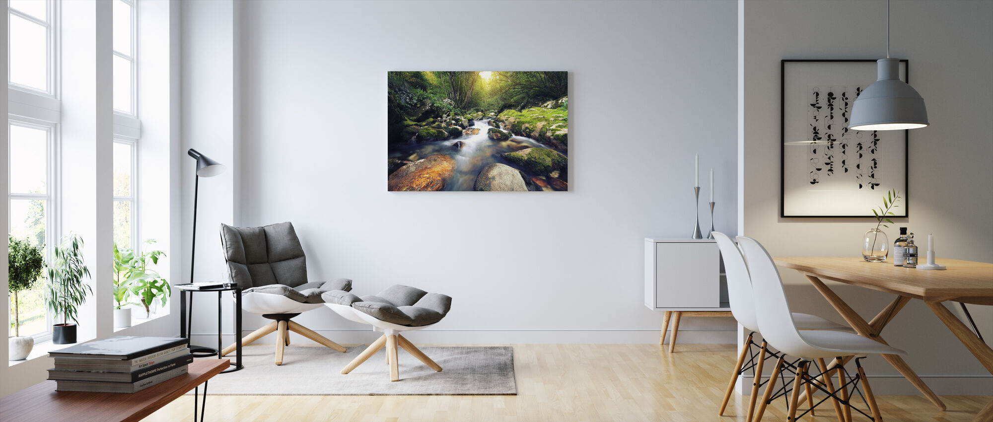 Flowing Stream - Canvas print - Living Room