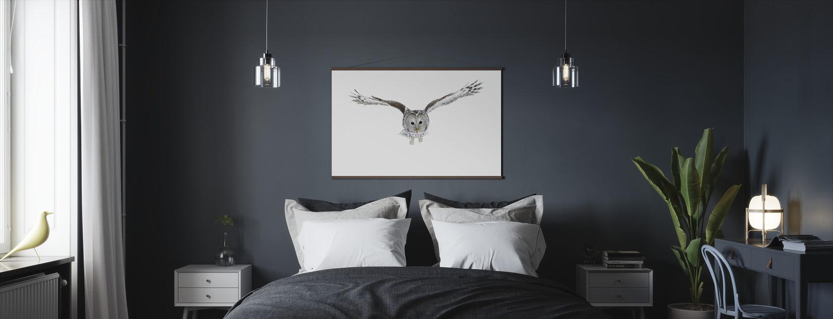 Flying Owl - Poster - Bedroom