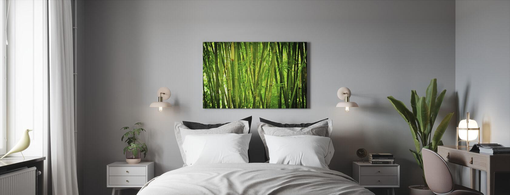 Green Bamboo - Canvas print - Bedroom