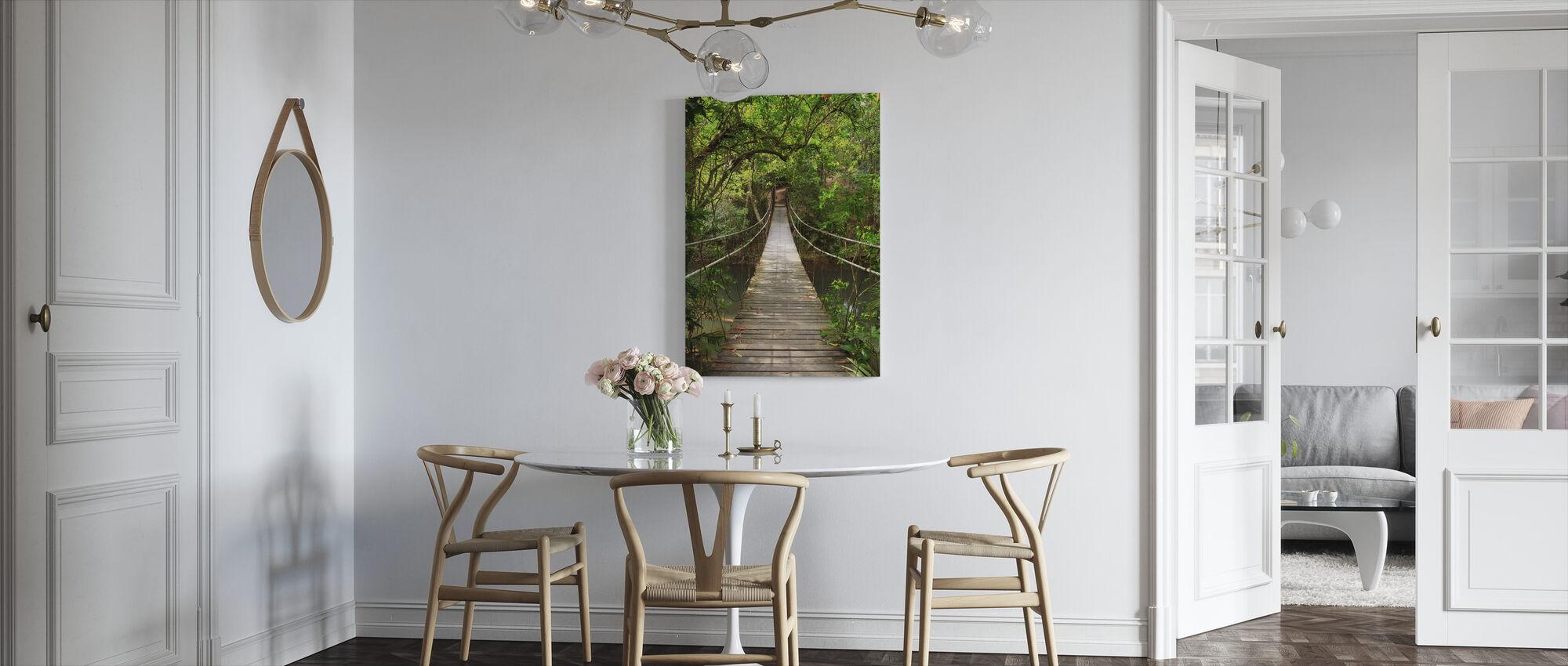 Rainforest Vine Bridge - Canvas print - Kitchen