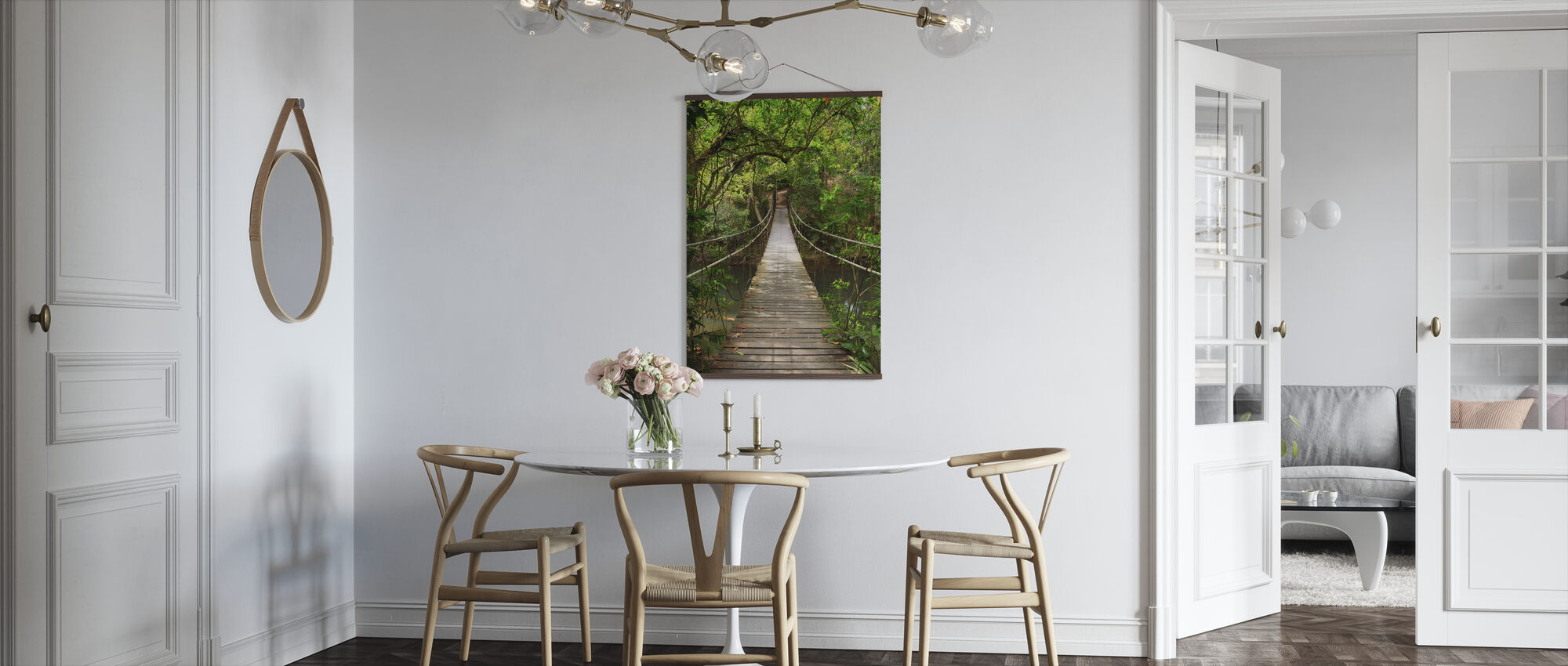 Rainforest Vine Bridge - Poster - Kitchen