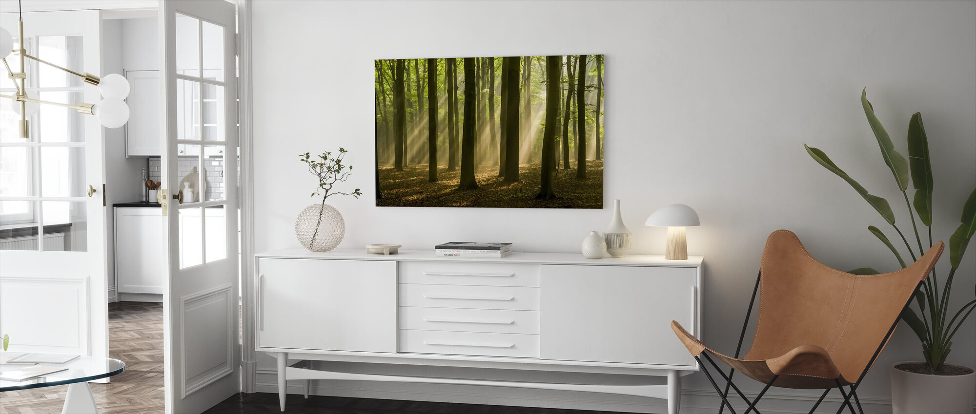 Taken by Trees - Canvas print - Living Room