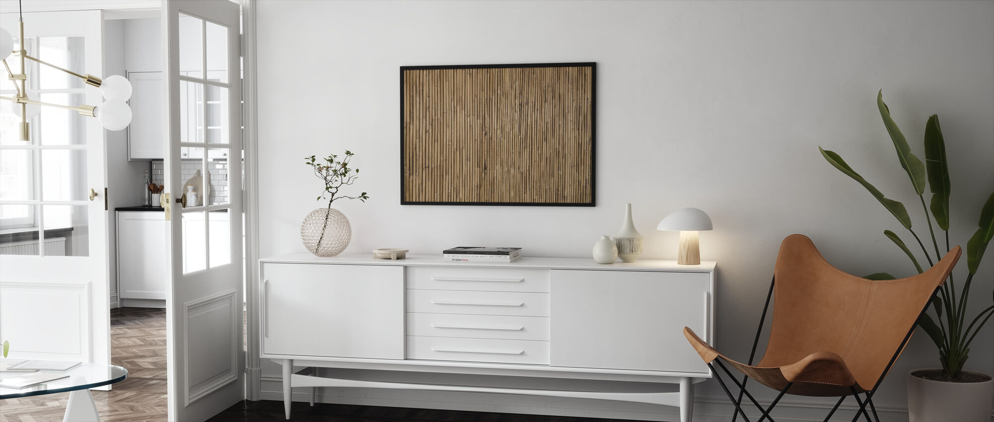 Bamboo Texture - Framed print - Living Room