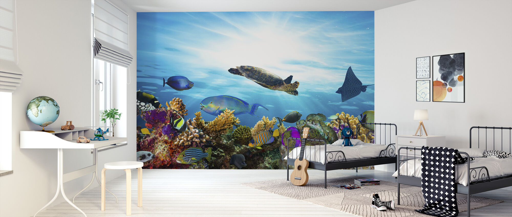 Coral Reef Panorama - Wallpaper - Kids Room