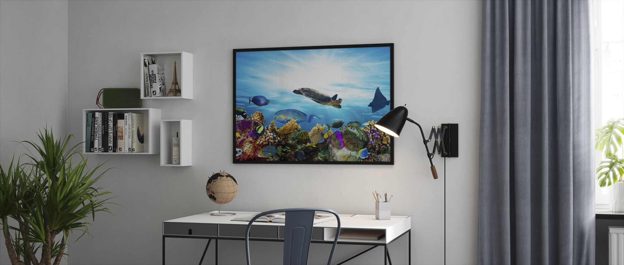 Coral Reef Panorama - Framed print - Office