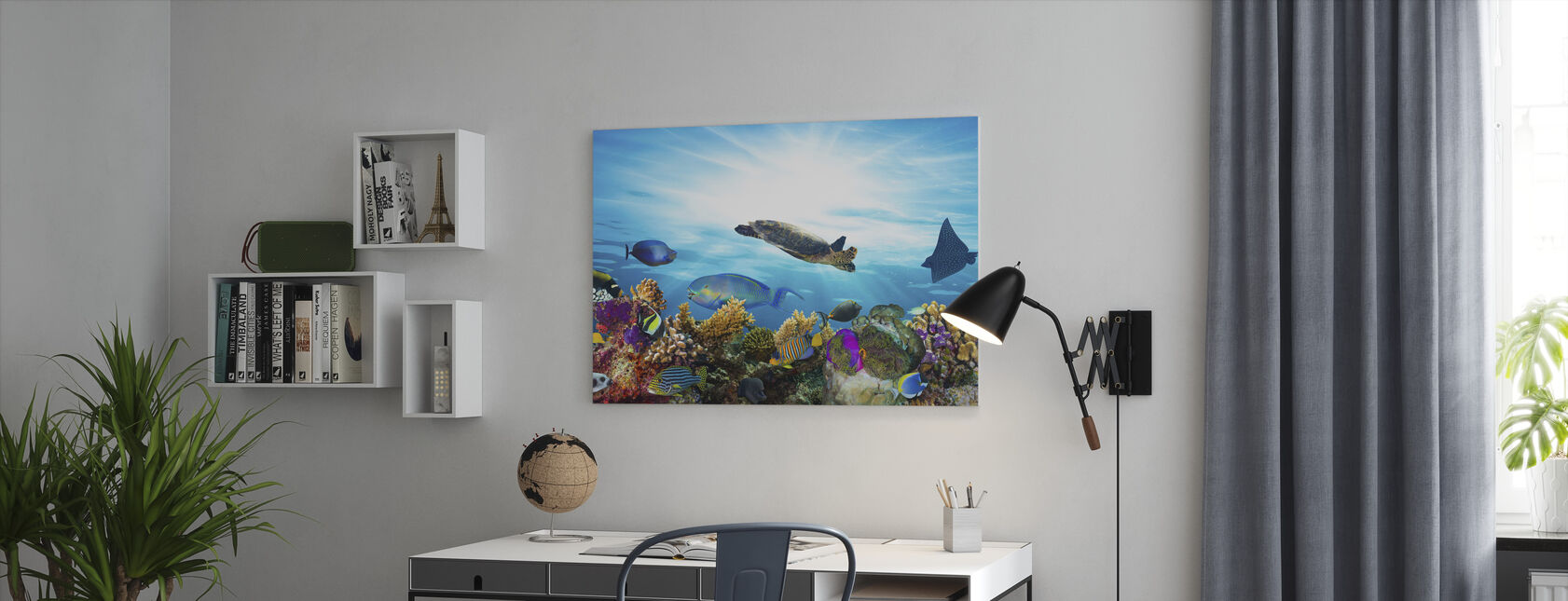 Coral Reef Panorama - Canvas print - Office