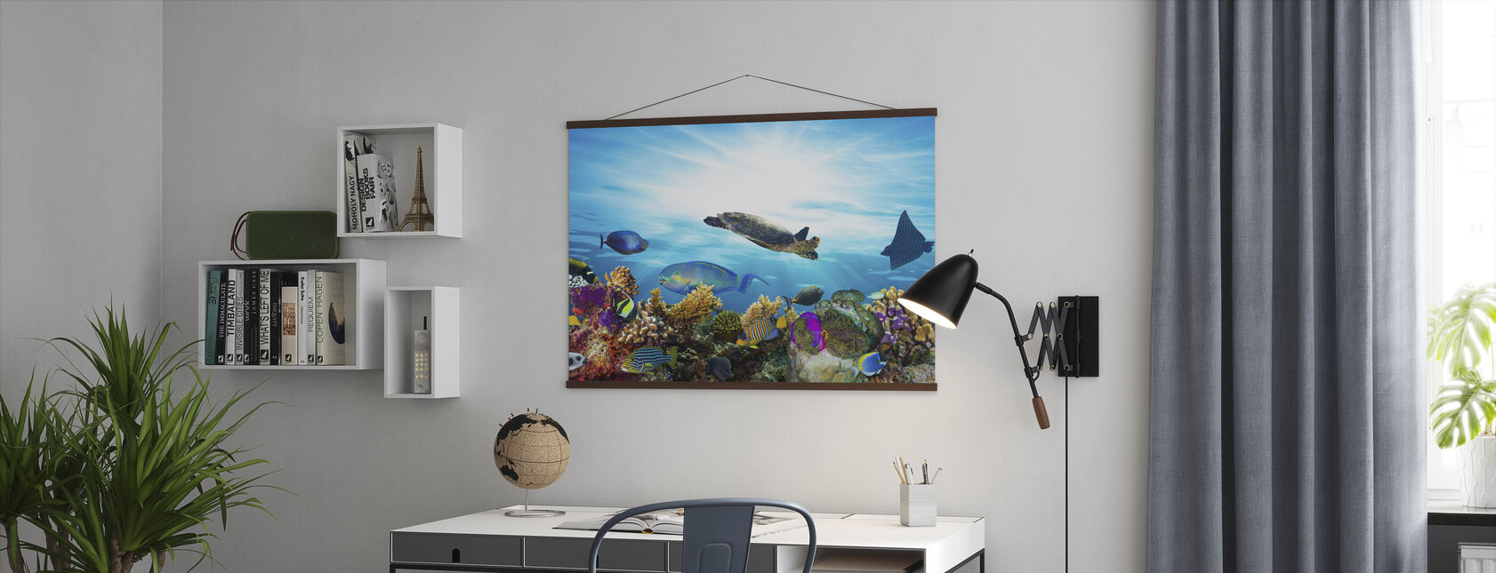 Coral Reef Panorama - Poster - Office