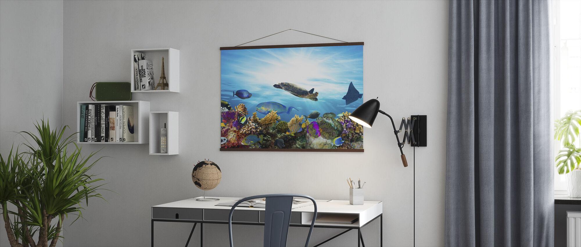 Koraalrif Panorama - Poster - Kantoor