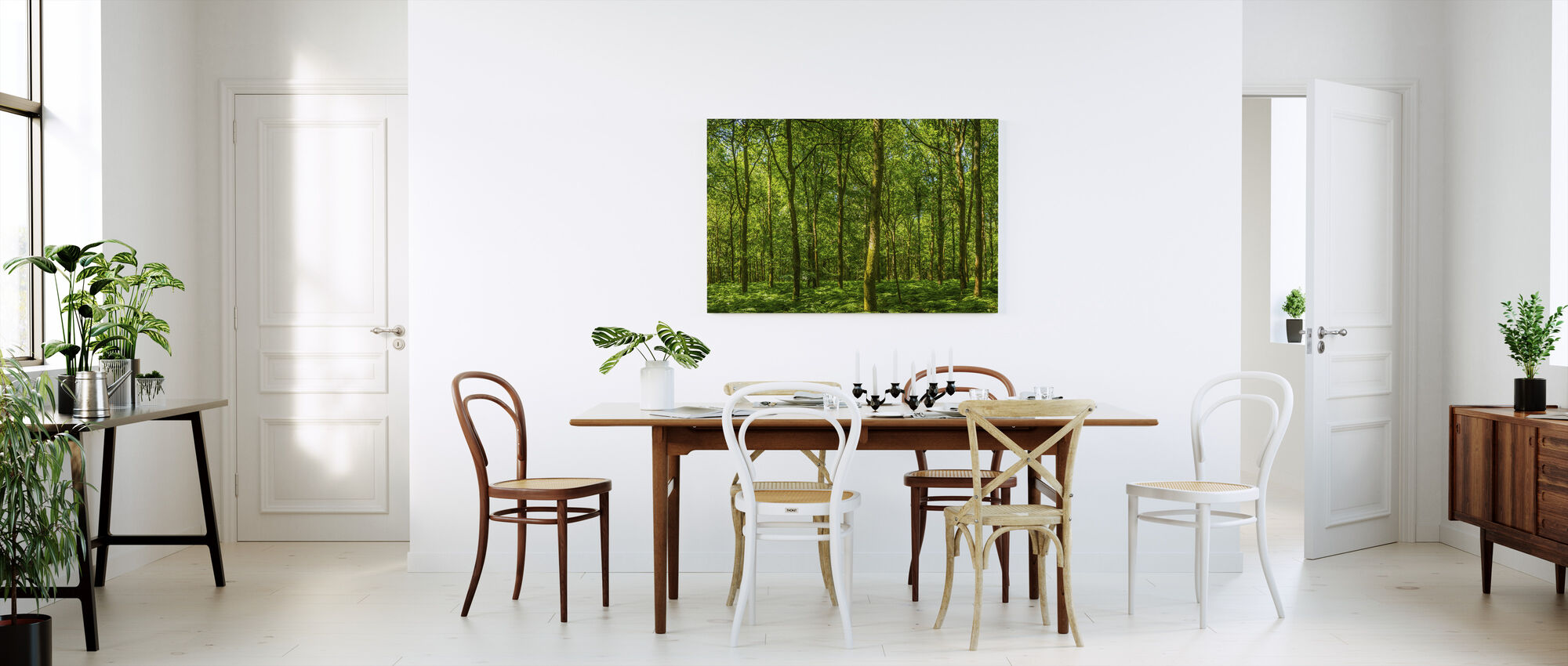 Emerald Green Panorama Forest - Canvas print - Kitchen