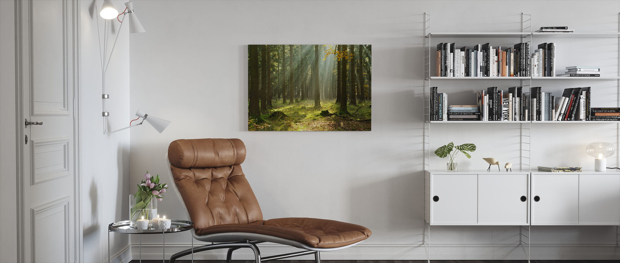Eetherisch bos - Canvas print - Woonkamer