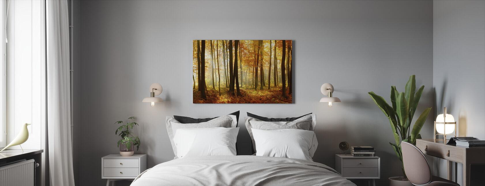 Japansk skov - Billede på lærred - Soveværelse