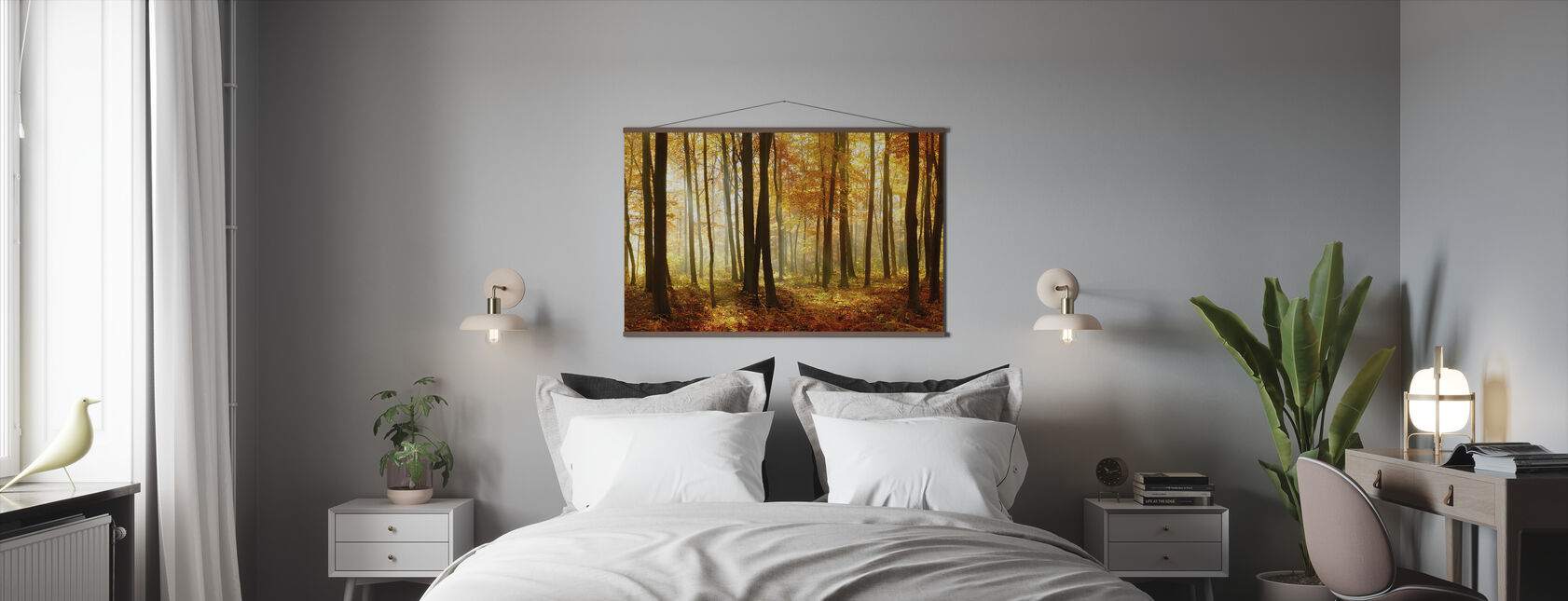 Japansk skov - Plakat - Soveværelse