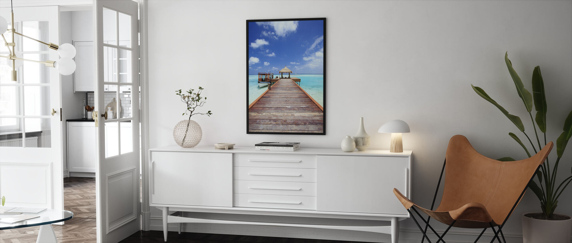 Jetty to Paradise - Framed print - Living Room