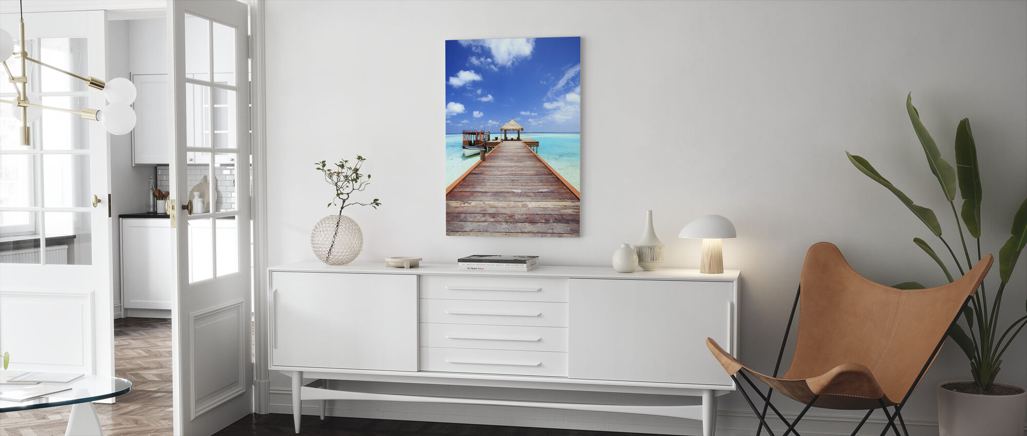 Jetty to Paradise - Canvas print - Living Room