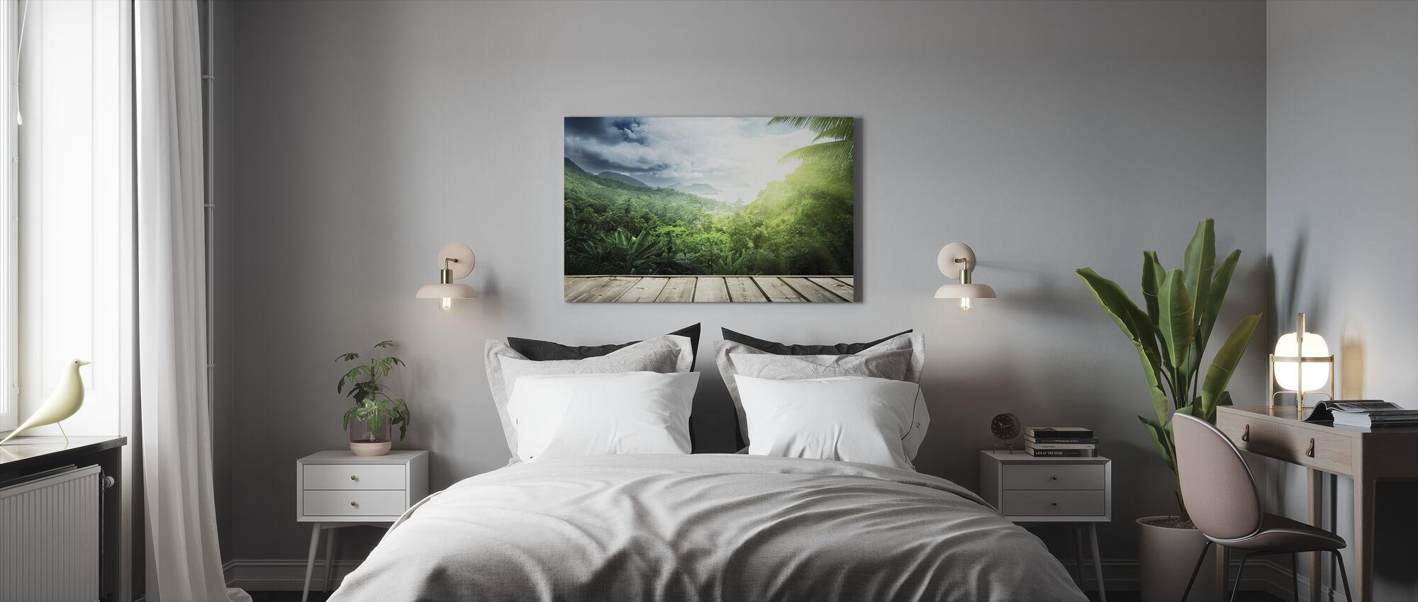 Porche Tropical - Impression sur toile - Chambre