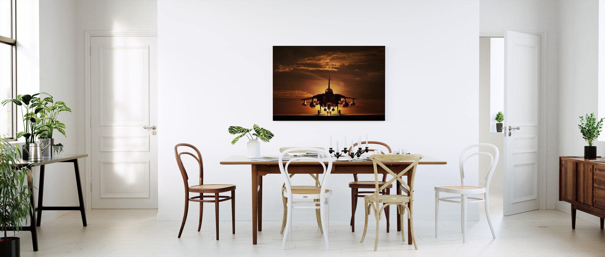 Avión puesta de sol - Lienzo - Cocina