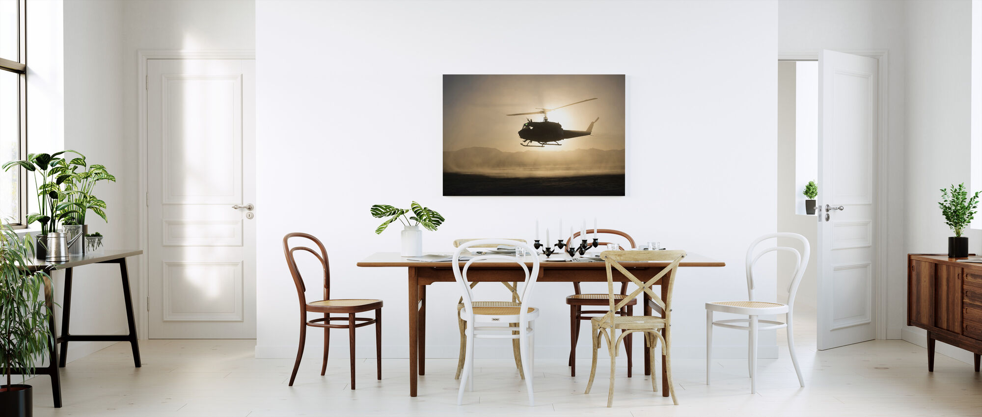 Helicopter Sunset - Canvas print - Kitchen
