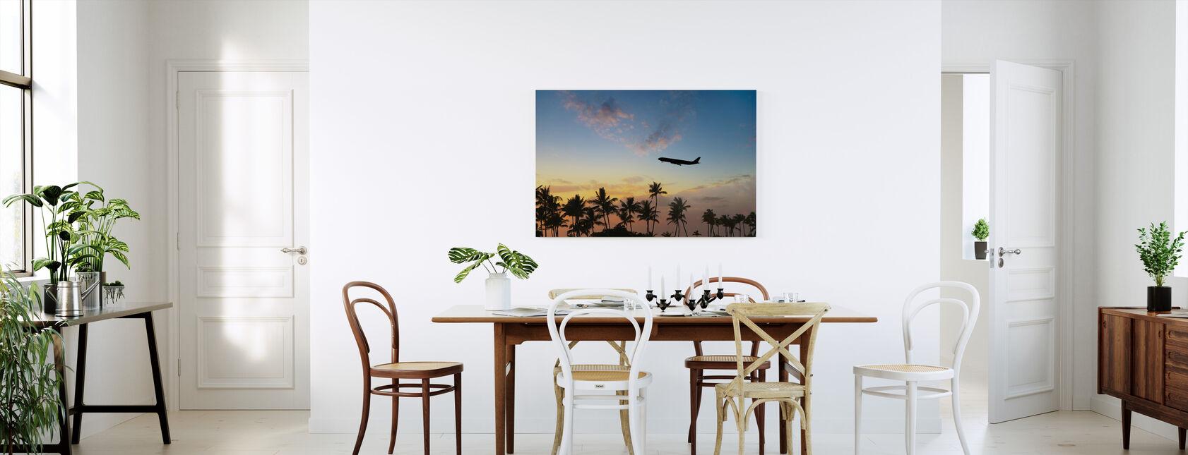 Tropische luchtwegen - Canvas print - Keuken