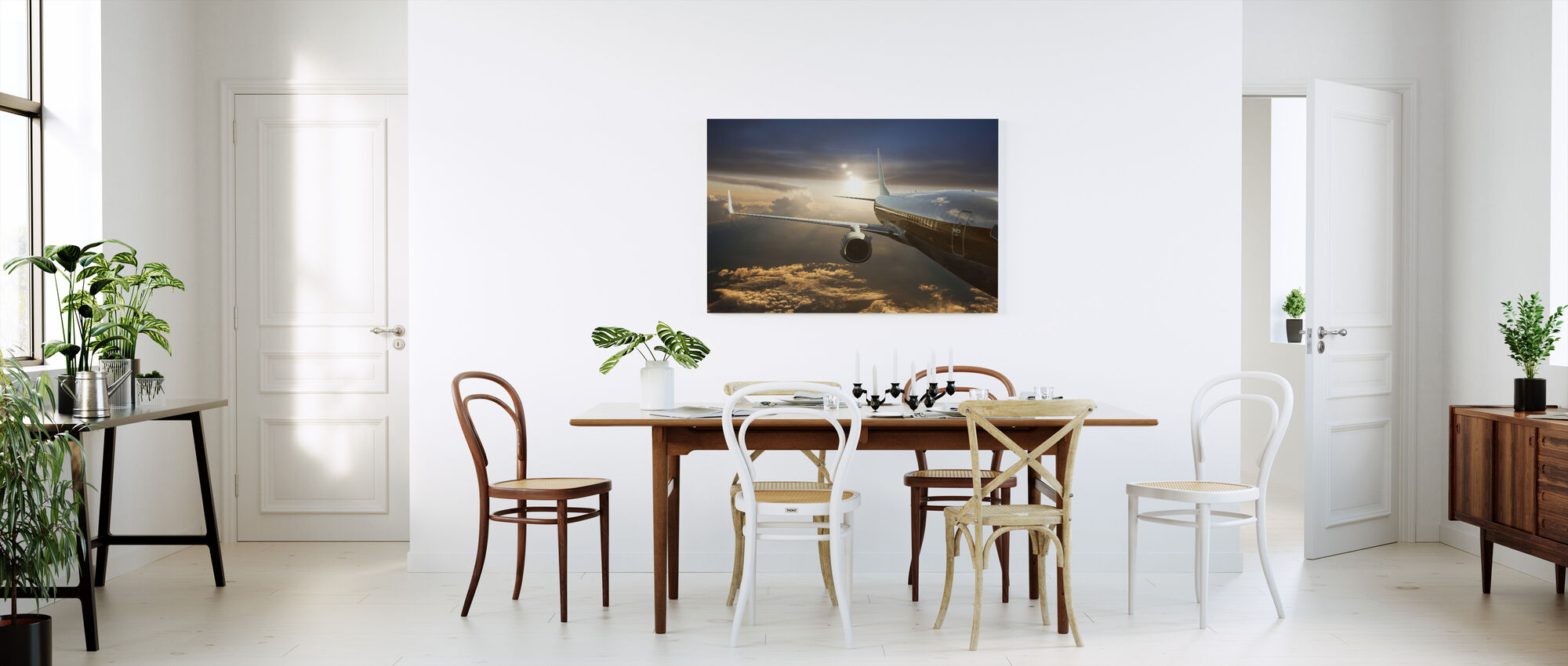 Airplane above Clouds - Canvas print - Kitchen