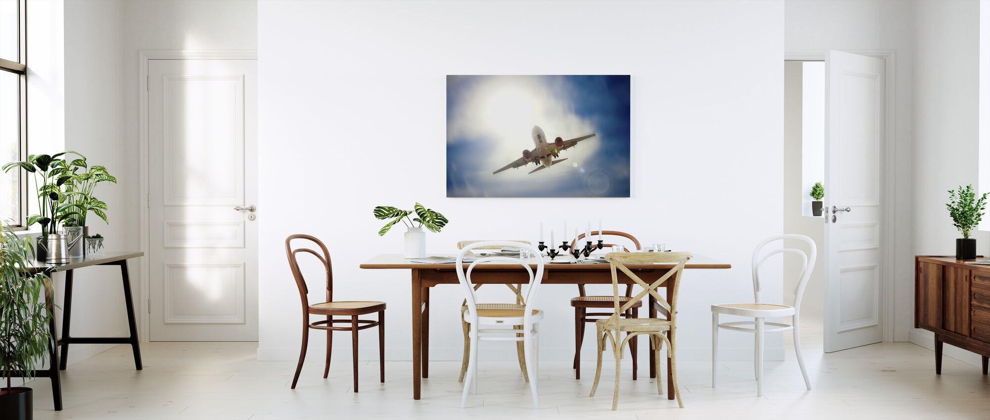 Fly i skyen - Lerretsbilde - Kjøkken