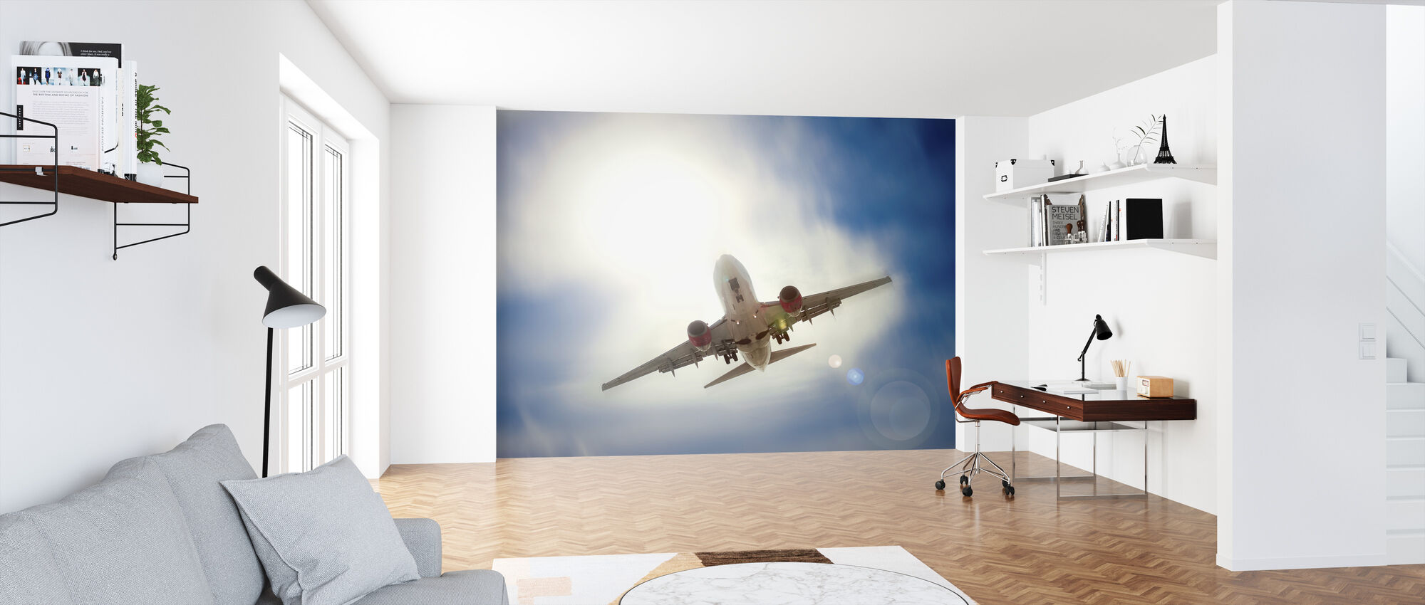 Airplane in Cloud - Wallpaper - Office
