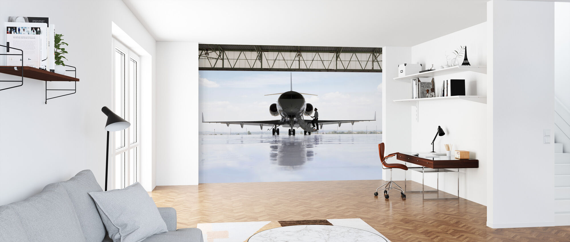 Airplane in Terminal - Wallpaper - Office