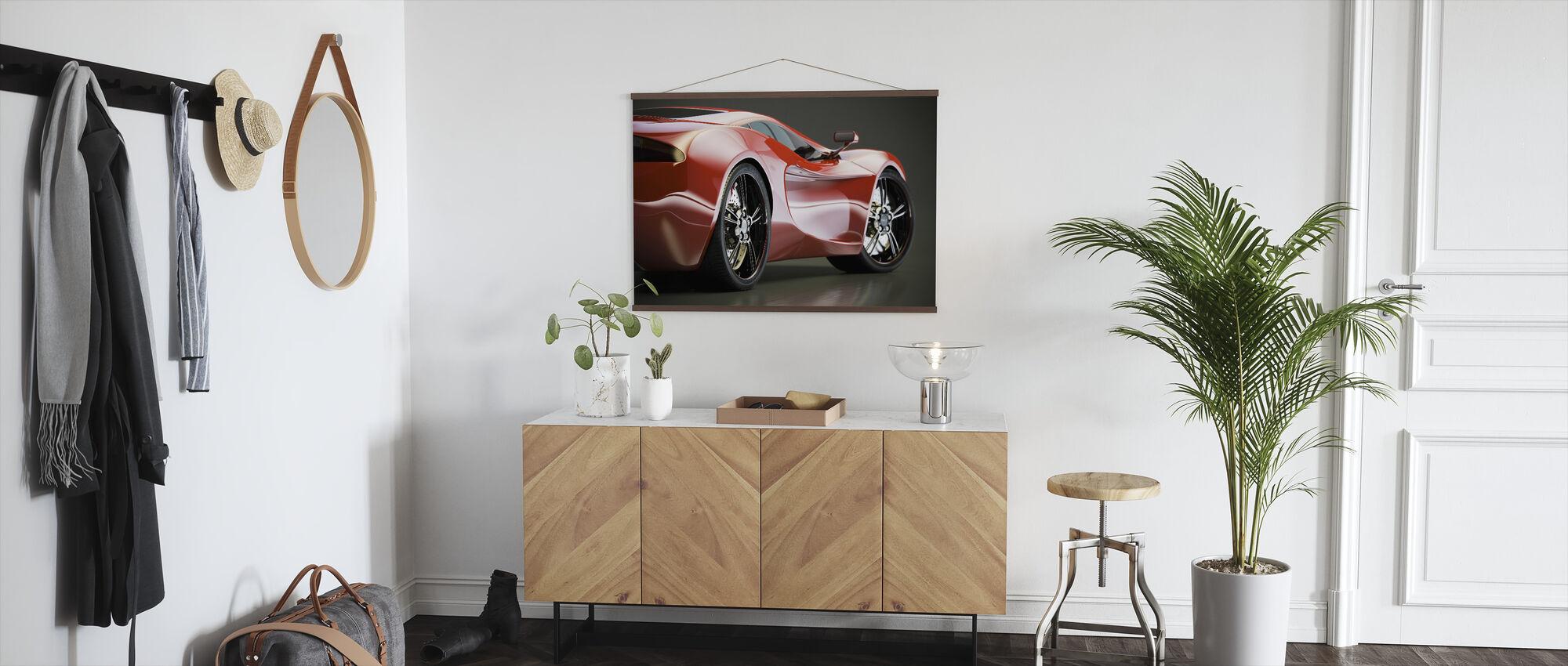 Sports Car - Poster - Hallway