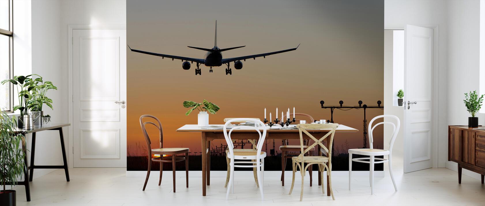 sunset landing mit fototapeten einrichten photowall. Black Bedroom Furniture Sets. Home Design Ideas