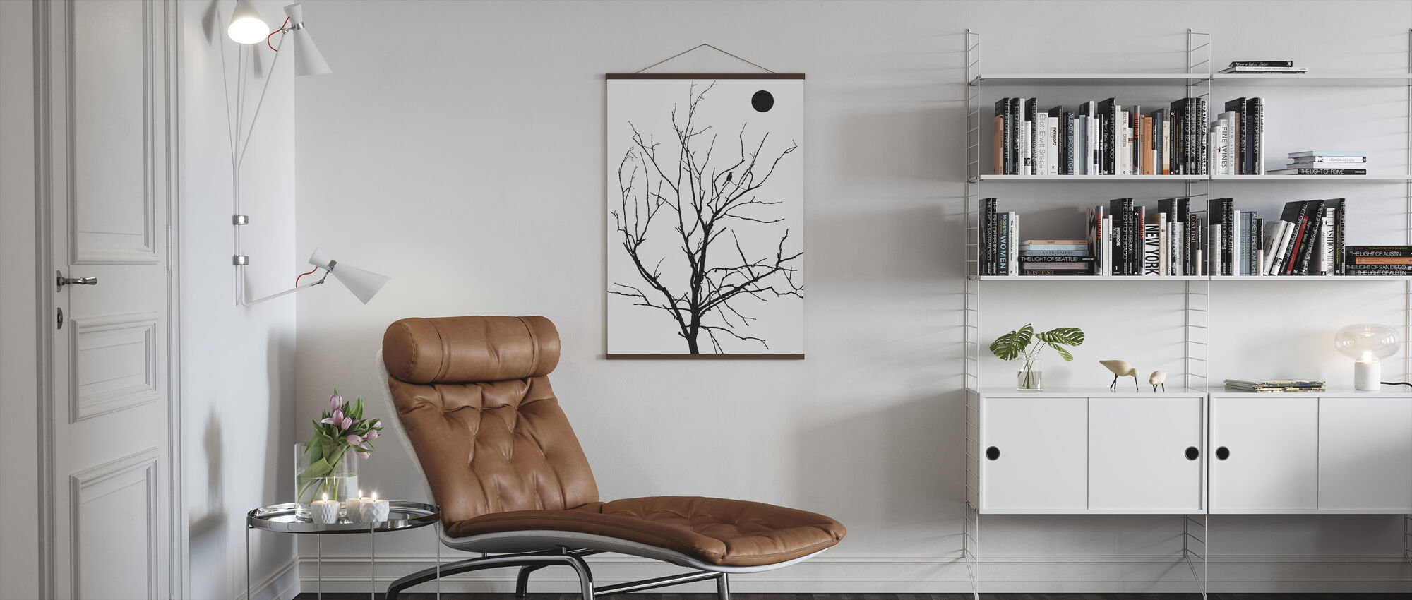 Lonely Bird Day Sun - Poster - Living Room