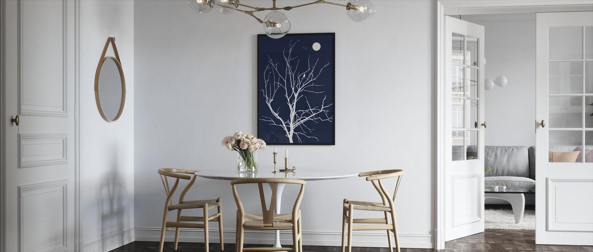 Lonely Bird Night Moon - Framed print - Kitchen