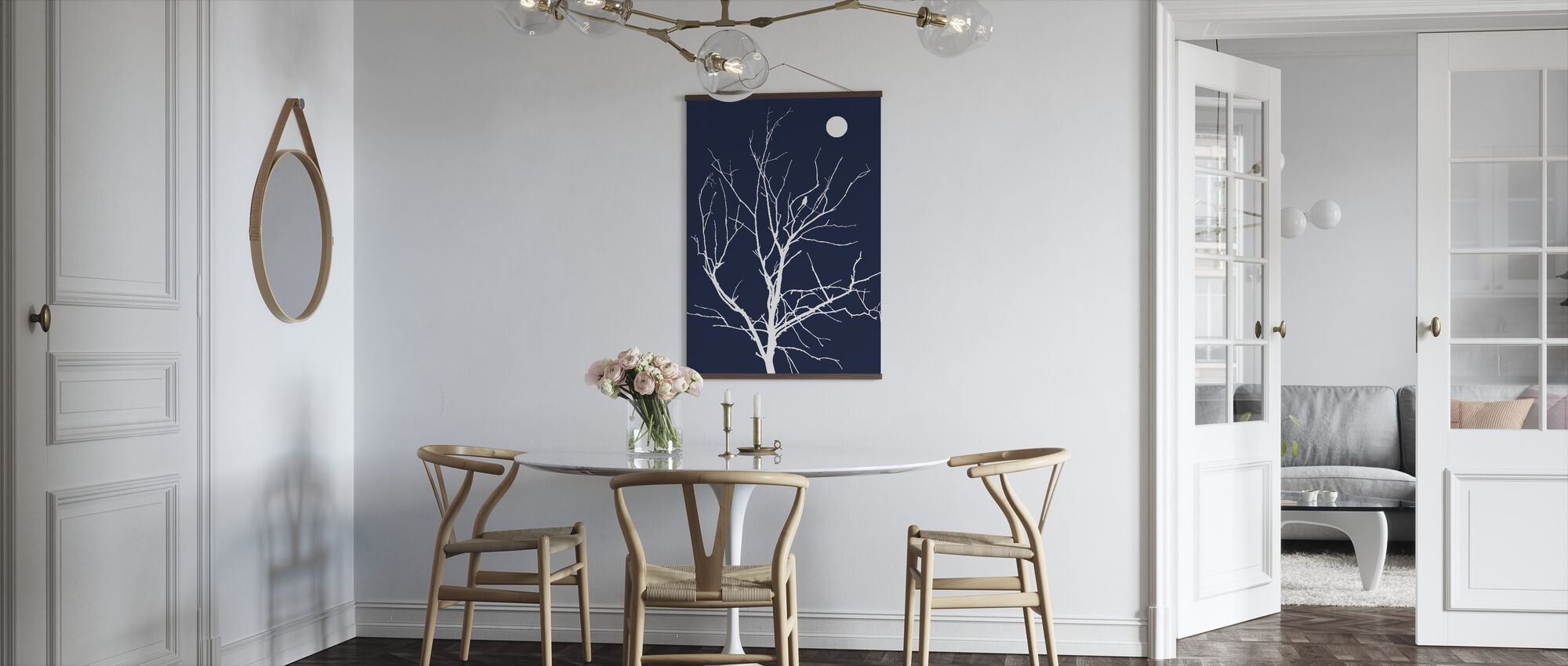 Lonely Bird Night Moon - Poster - Kitchen