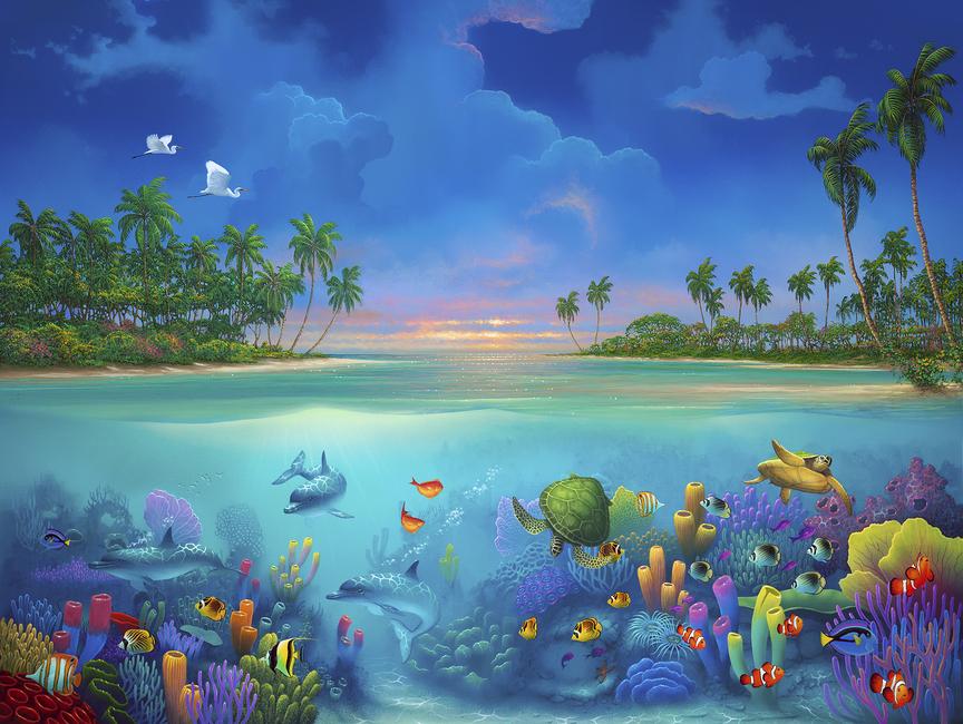 Kuva Below Paradise Tapetit / tapetti 100 x 100 cm