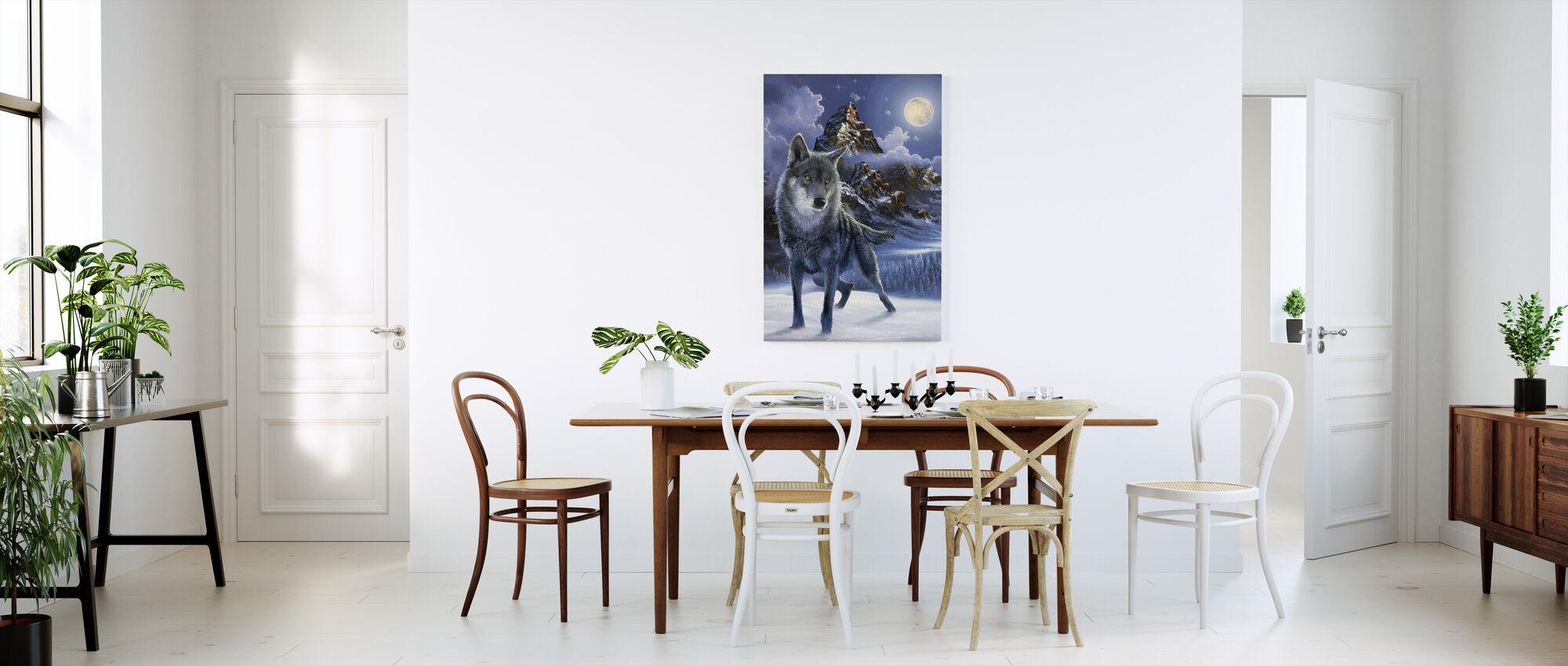 Midnight Wolf - Canvas print - Kitchen
