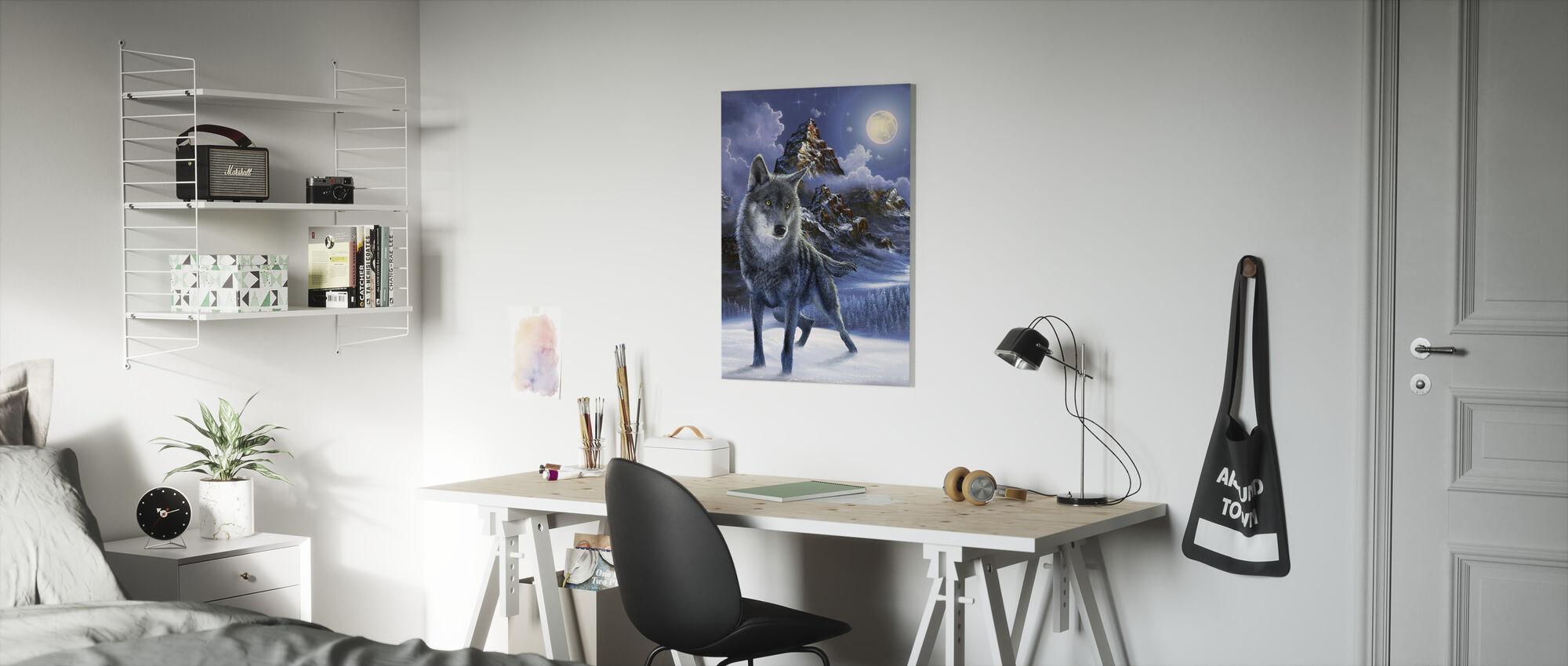 Midnight Wolf - Canvas print - Kids Room
