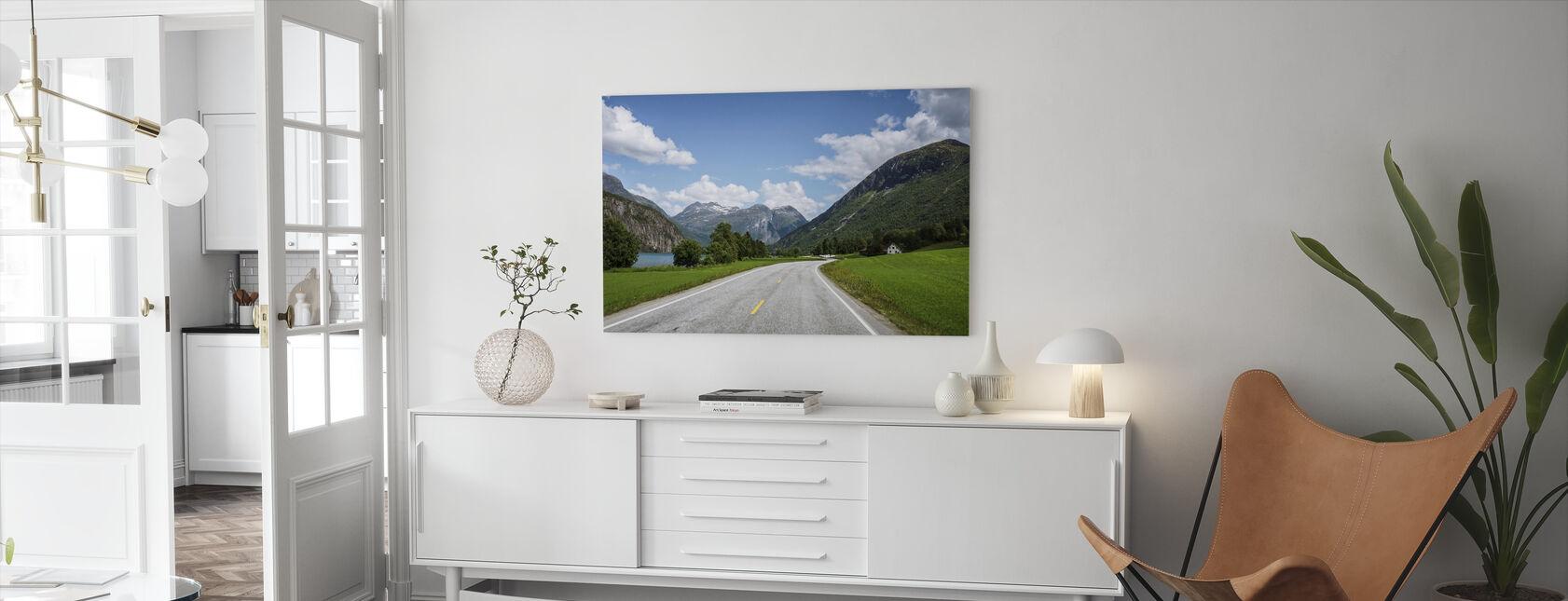 Scene of Innvik Fjord, Norway - Canvas print - Living Room