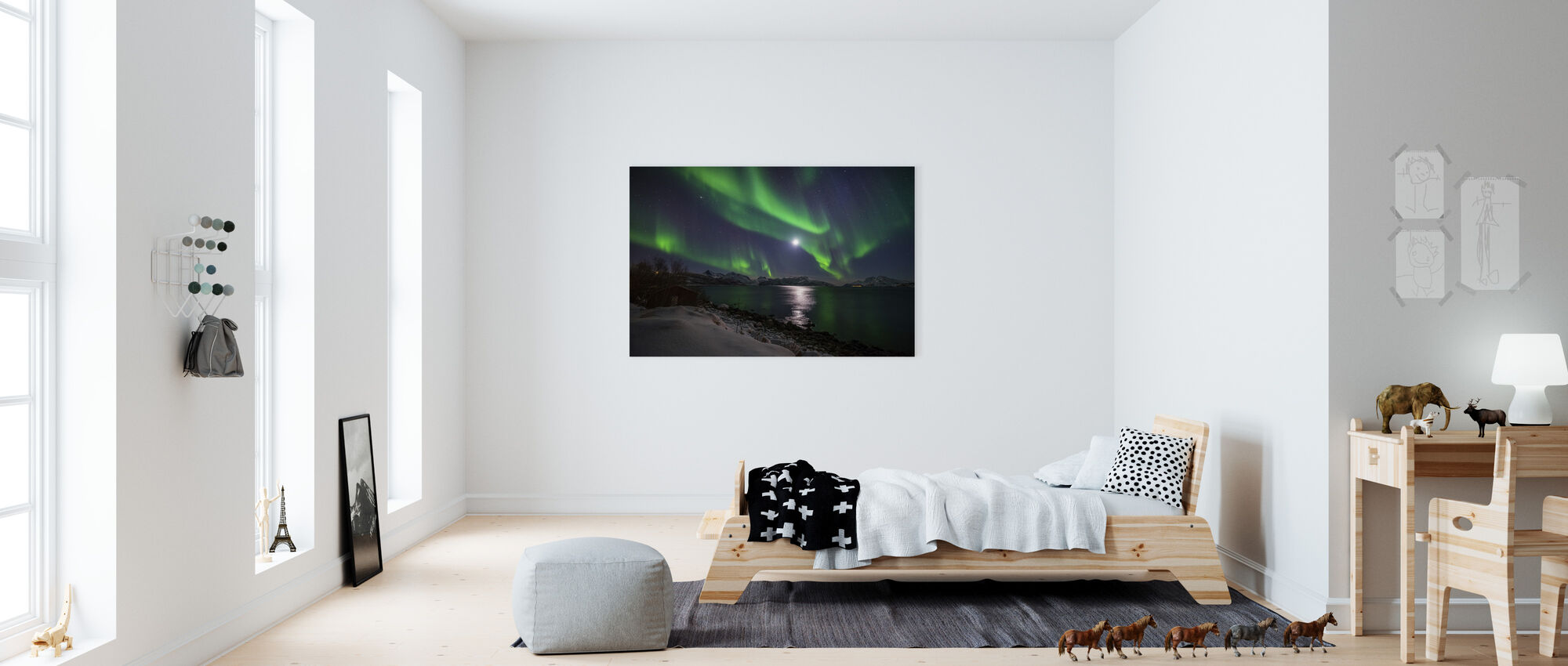 Northern Light over Troms Coast, Norway - Canvas print - Kids Room