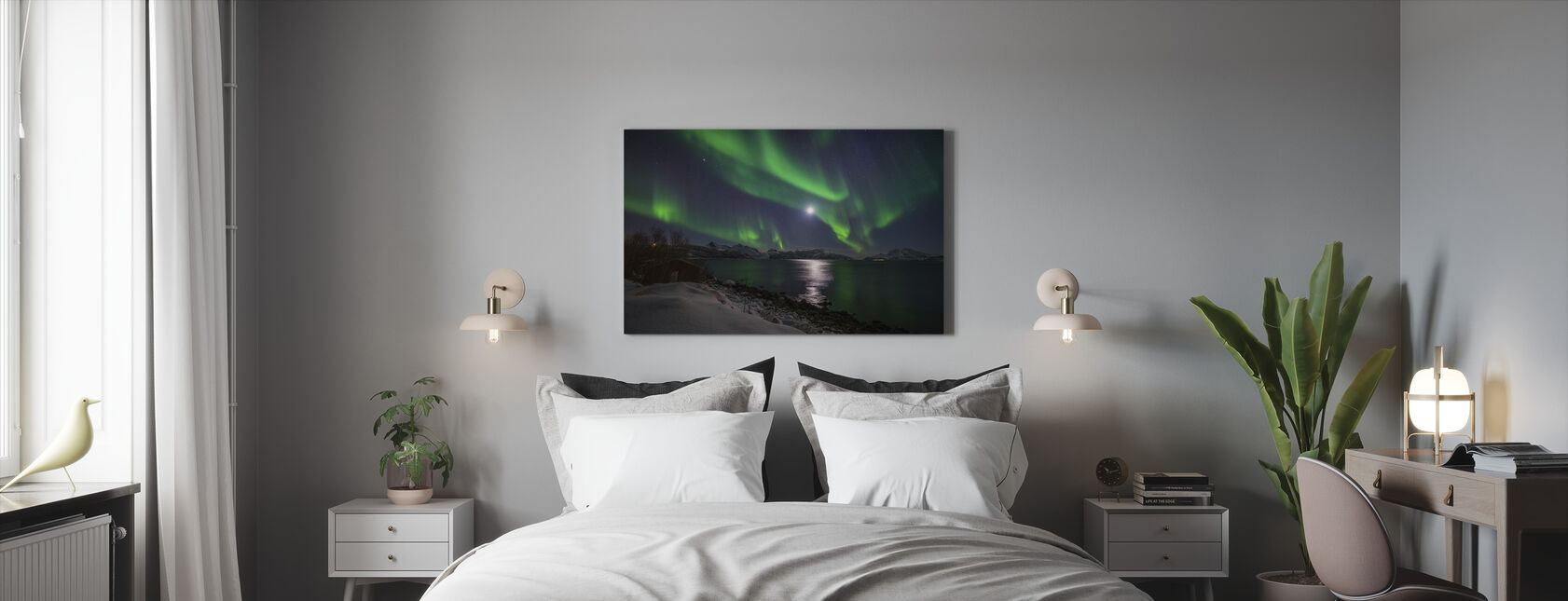 Northern Light over Troms Coast, Norway - Canvas print - Bedroom