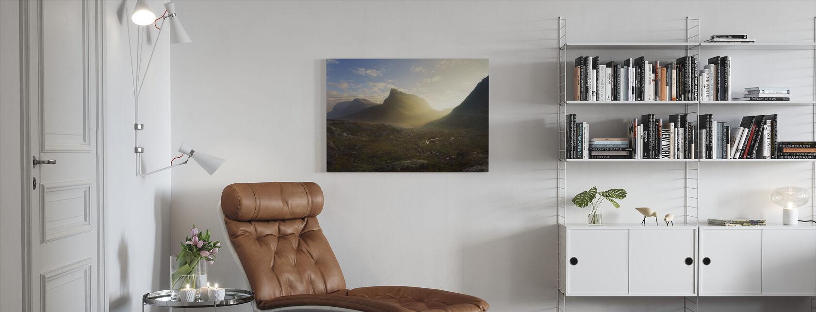 Noors herfstlandschap - Canvas print - Woonkamer