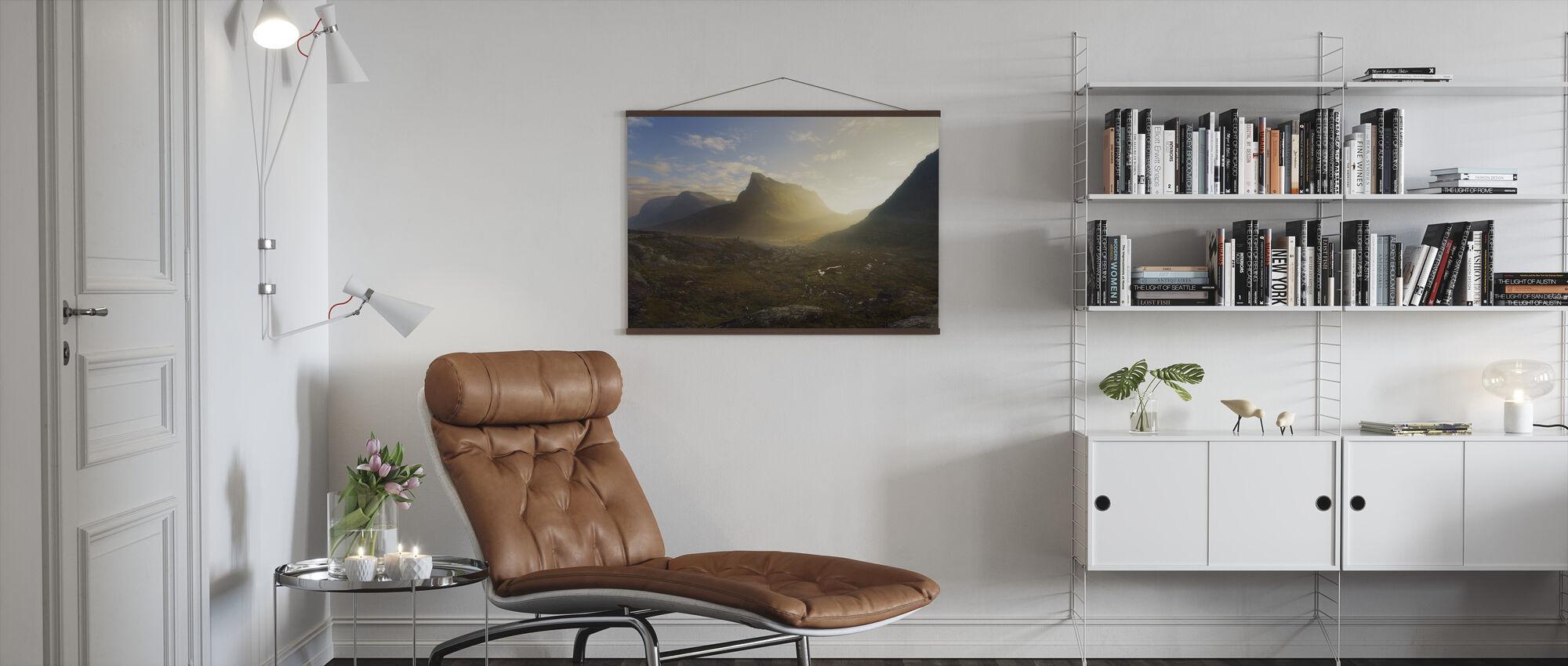 Norwegian Autumn Landscape - Poster - Living Room