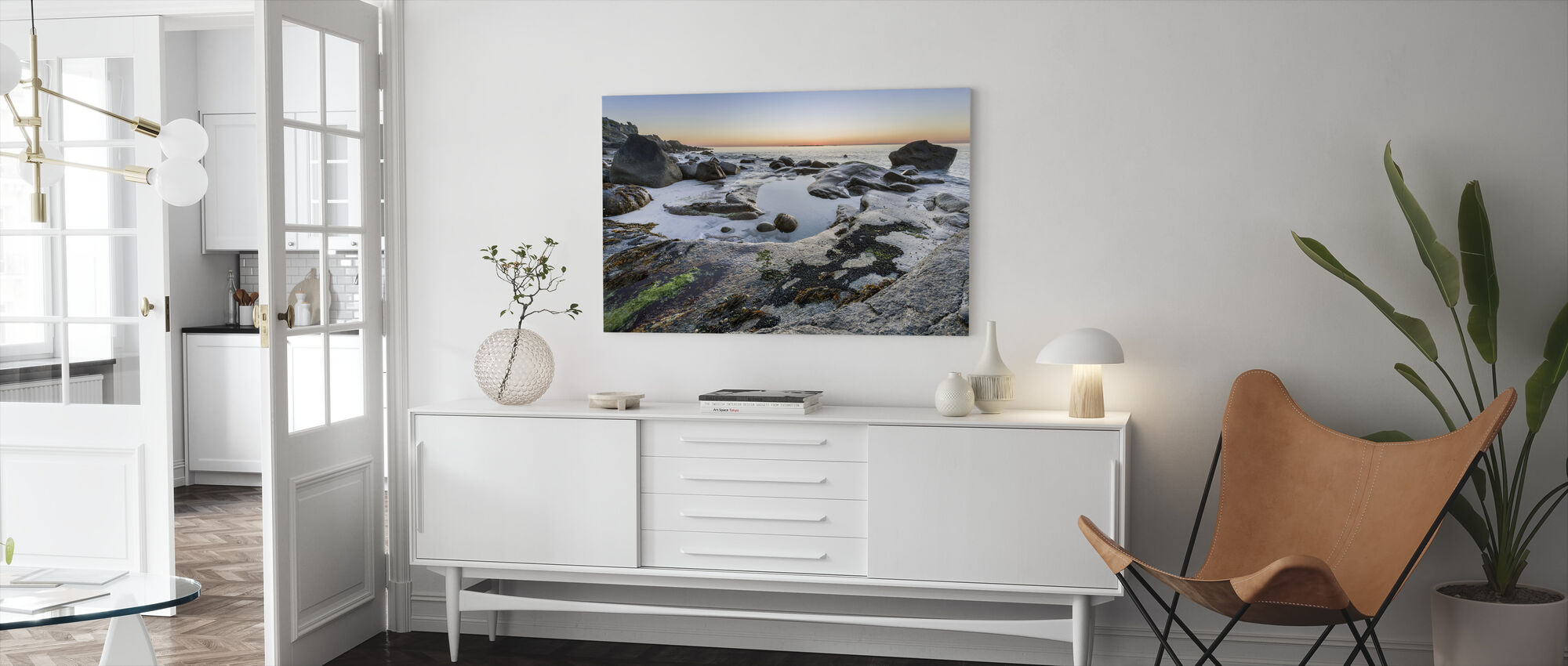 Lofoten Coastline - Canvas print - Living Room