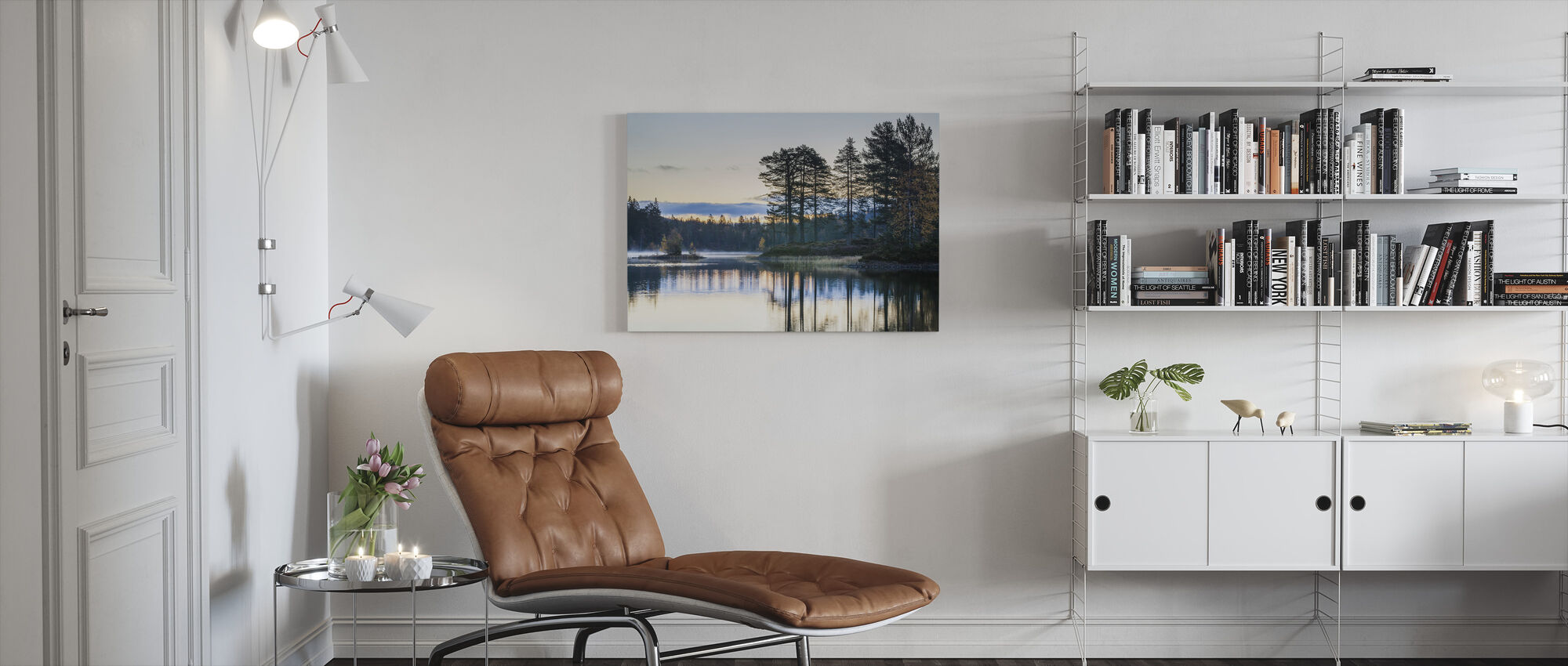 Forest in Drammen, Norway - Canvas print - Living Room