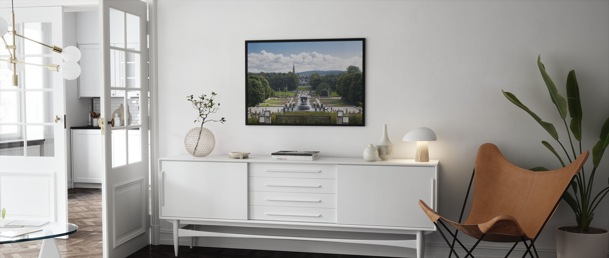 Vigeland Sculpture Park in Oslo, Norway - Framed print - Living Room
