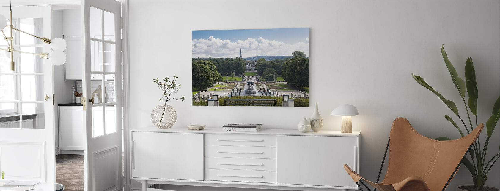 Vigeland Sculpture Park in Oslo, Norway - Canvas print - Living Room