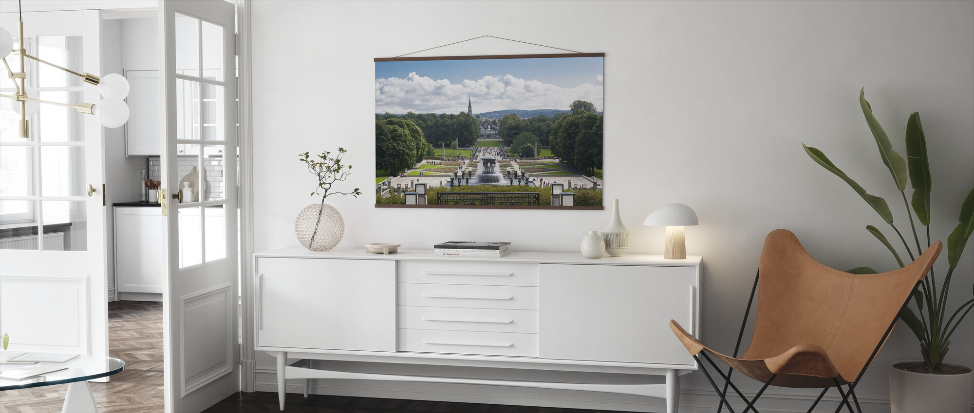 Vigeland Sculpture Park in Oslo, Norway - Poster - Living Room