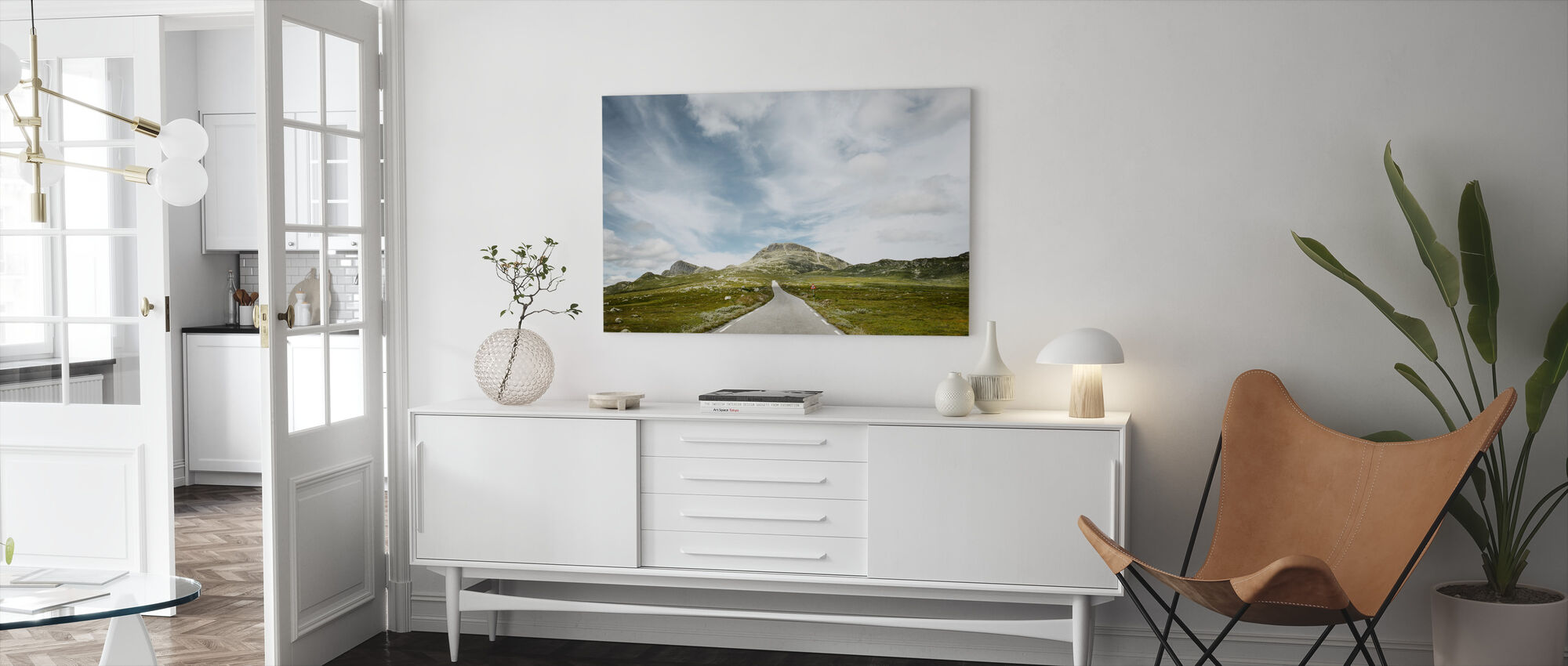 Pass Road, Norway - Canvas print - Living Room